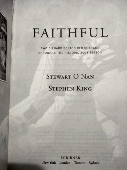 Faithful - Two Diecast Boston Red Sox Fans - Stephen King
