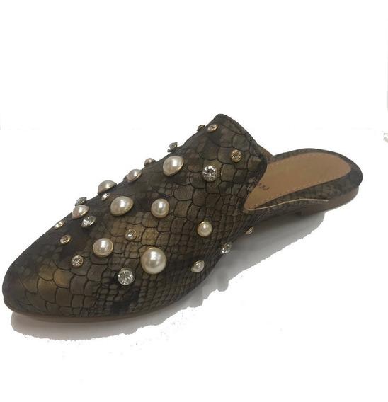 Zapato Bema Dama Flat Con Perlas