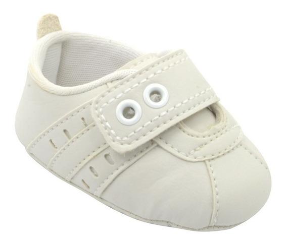 Tênis Masculino Infantil Bebê Branco Batizado Pé Com Pé