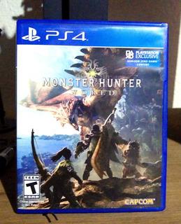 Monster Hunter World Ps4 Seminuevo Excelente Estado