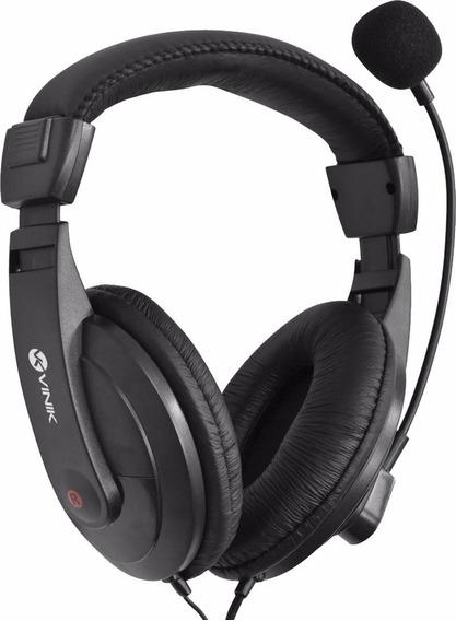 Fone Headset Go Play Fm35 Preto C/ Mic