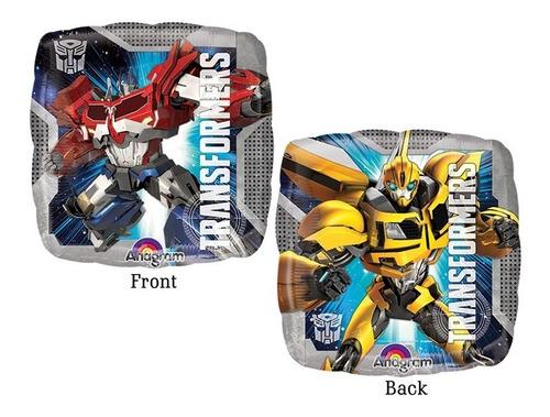 Imagen 1 de 3 de 4 Globos Transformers Optimus Bumblebe Met 18 Surtido Fiesta