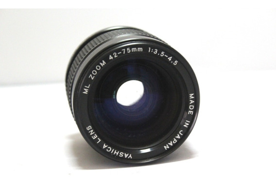 Lente Yashica 42-75mm 3.5-4.5 Retro Coleção Retirada De Peça