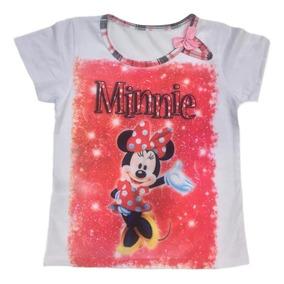 Lote 05 Camiseta Blusa Infantil Menina Roupas Atacado Top