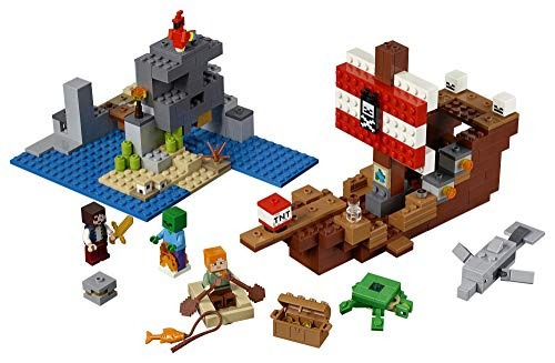 Lego Minecraft El Barco Pirata Aventura 21152 Kit De Constr