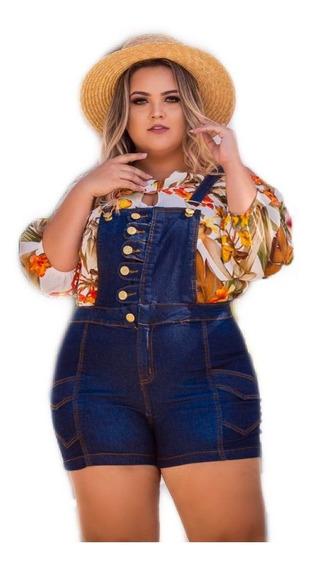 Macacão Jeans Com Elastano Plus Sizer Melhor Jeans Mld 45