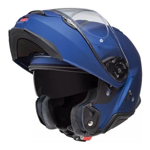 Capacete Shoei Neotec 2 Escamoteável Azul Fosco Com Óculos