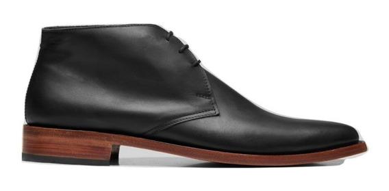 Bota Zapato Hombre De Cuero Con Cordones Varios Colores