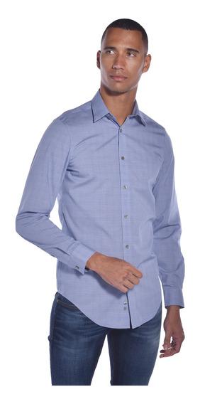 Camisa Slim Fit Calvin Klein Azul 17k4582-411 Hombre