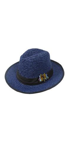 Sombrero Rafia Con Bordado En Lentejuelas Ec-358