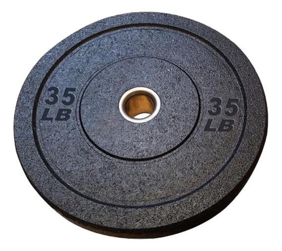 Disco Olimpico Tipo Bumper Uso Rudo Entrenamiento Gym 35 Lb
