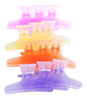 Lucydan Set X12 Ganchos Separadores De Cabello Peluquería