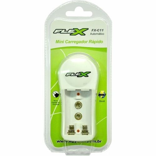 Carregador De Pilha Flex Aa/aaa E Bateria 9v Bivolt Fxc11.