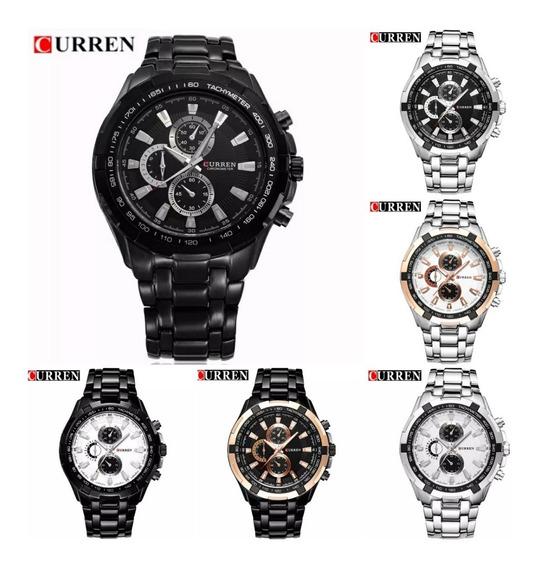 Relógio Masculino Curren Original Pulseira Aço Luxo Barato