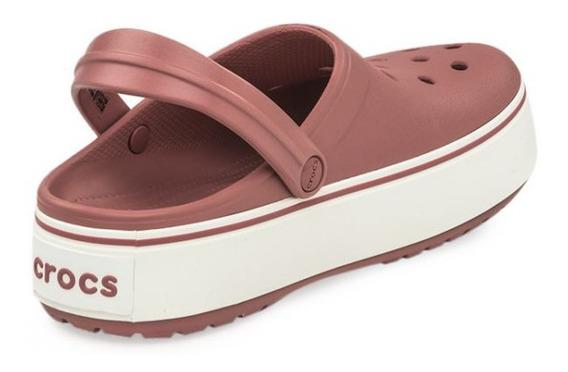Ojotas Crocs Plataform Pla 100% Originales Con Garantia