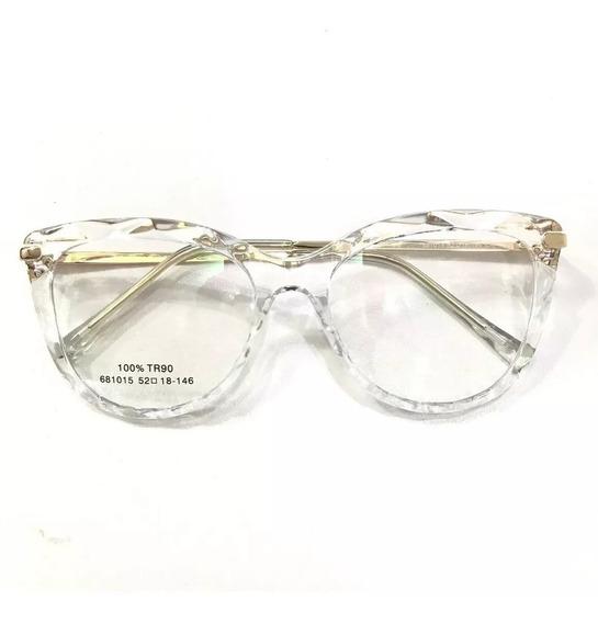 Óculos Armações Feminino Transparente Trend -44 Estiloso