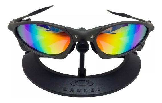 Óculos Oakley Juliet Penny Cinza Arco-iris Borracha Preta!!!
