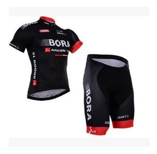 Conjunto Ciclismo Bora (camisa+bermuda Gel)