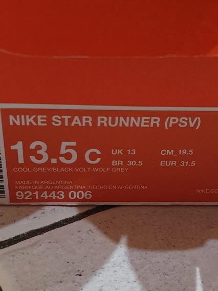 Nike Zapatillas 31.5 Star Runner Uk 13 Niños Nena Varon