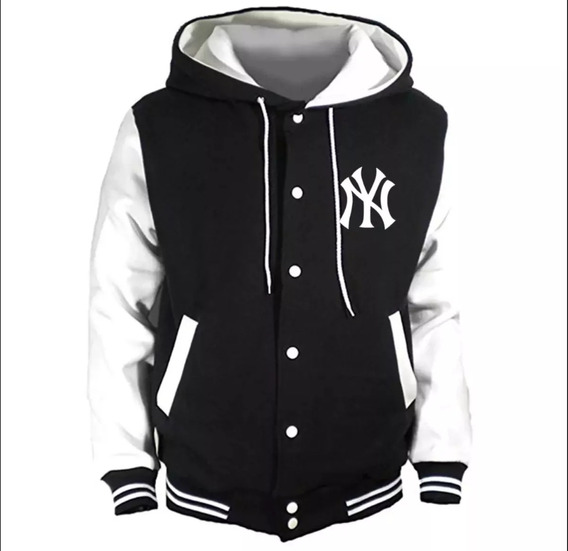 Chaquetas Universitarias New York Yankees Mlb Con Capucha