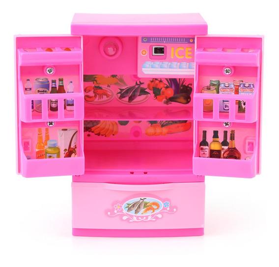 Mini Refrigerador Nevera Niños Niños Juego De Roles Juguete