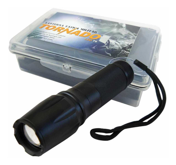Lanterna Tática Militar Tornado 1000 Lúmens C/bateria E Case