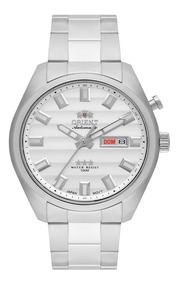 Relógio Orient Masculino Automático 469ss076 S1sx Aço Prata