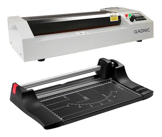 Plastificadora Laminadora A3 + Guillotina Kit Comercial Pro