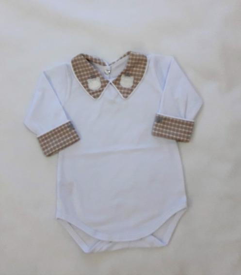 Body Roupa Infantil Bebê Menina Menino Gola Bordada Ref. 209