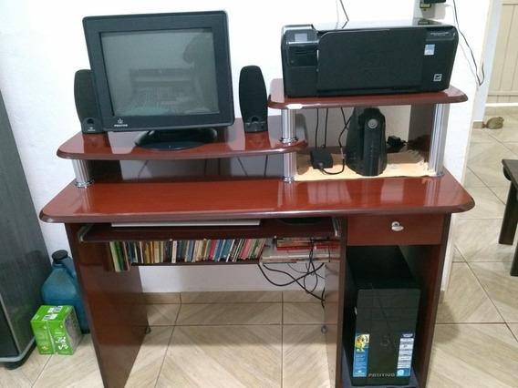Computador, Impressora, Estabilizador E Rack