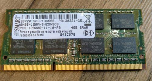 Imagem 1 de 2 de Memória Ram Ddr3 4gb 1x4gb Smart Pc3-12800s Notebook Smart