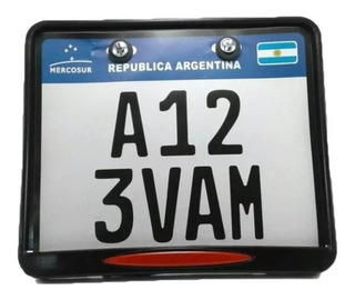 Porta Patente Moto Mercosur Nueva C/ Tornillos Vc Gaona Moto