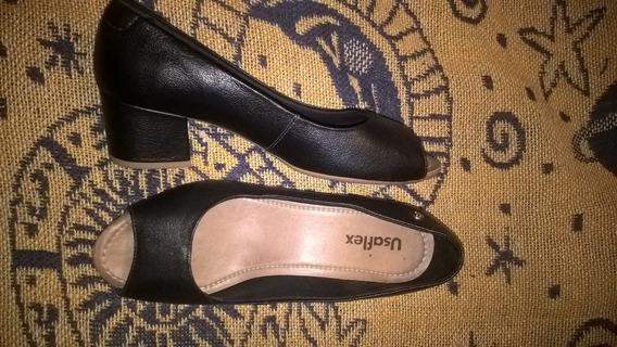 Zapato Mujer Usaflex Eco Cuero Nª38 Nuevo Comodo