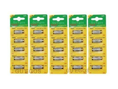 25 Pilhas 23a - 5 Cartelas Com 5 Unidades Original