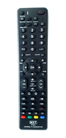 Controle Remoto Universal Para Tv Philips Hdtv, Led, Lcd, 3d