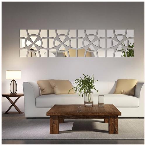 Espelho De Parede Para Sala Modelo Círculo Mosaico 202x49 Cm Mercado Livre