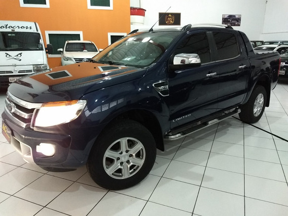Ford Ranger Dupla Limited 2015 Azul 3.2 Die Aut Top Acess