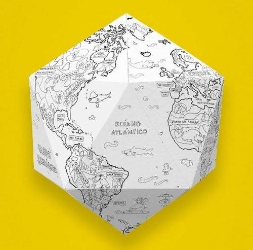 Atlantis Mapas: Lámina Gigante Para Pintar - Globo Terráqueo