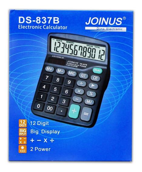 Calculadora Eletrônica 12 Dígitos Ds-837b Com Grande Display
