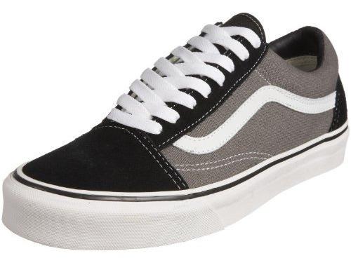 zapatos vans gris con negro viejo