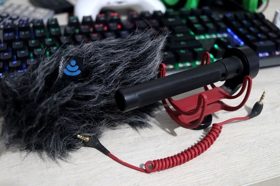 Microfone Rode Videomic Preto Adaptado Com Protetor Gat