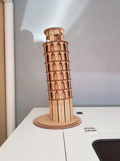 Torre De Pisa, Hecha De Mdf De 3mm, Altura De 60cm