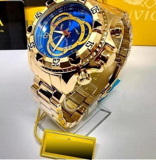 Relógio Masculino Dourado Prova De Agua Frete Gratis