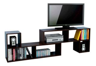 Rack Para Tv 2 Modulos Centro Estant Mt6000 Wengue