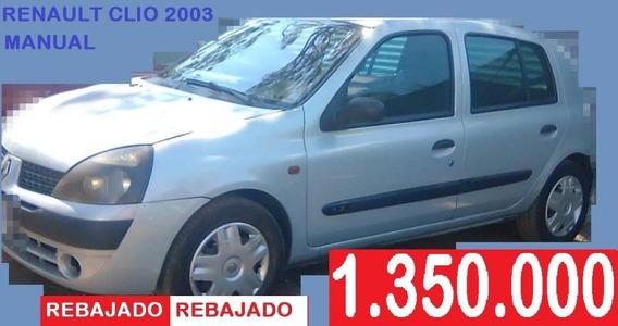 Renault Clio 2003 Hb Manual.rebajado:.1.350.000 Al 8380-1426