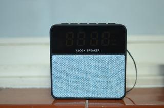 Parlante Recargable Portátil, Radio/blue/usb/sd/reloj