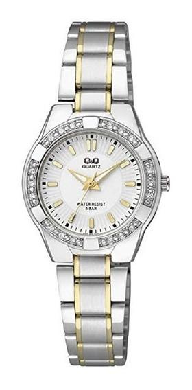 Relógio Analógico Feminino Q&q Prata - Q865j401y