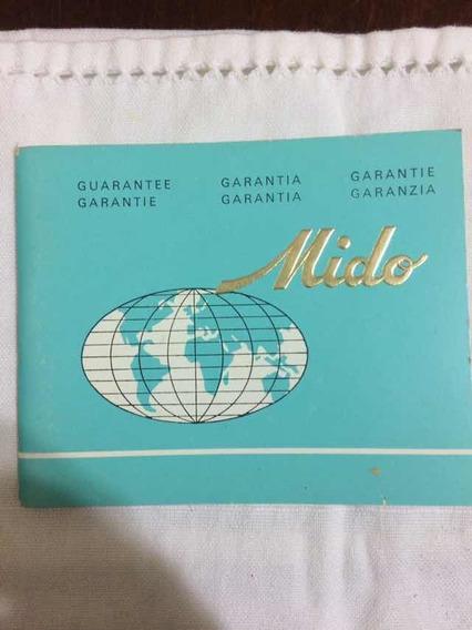 Certificado Compra Garantia Relógio Mido Antigo Raridade