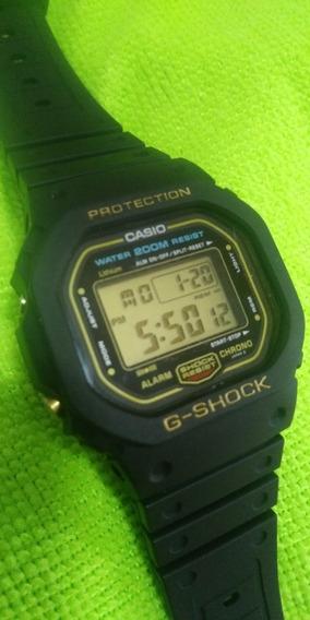 Relógio Antigo Casio G Shock Dw 5600 Fundo Rosca Série Ouro
