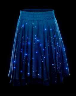 Falda Estrellas Con Luces Led